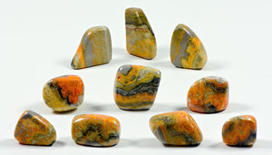 Bumblebee Jasper Polished Tumbled Gemstone