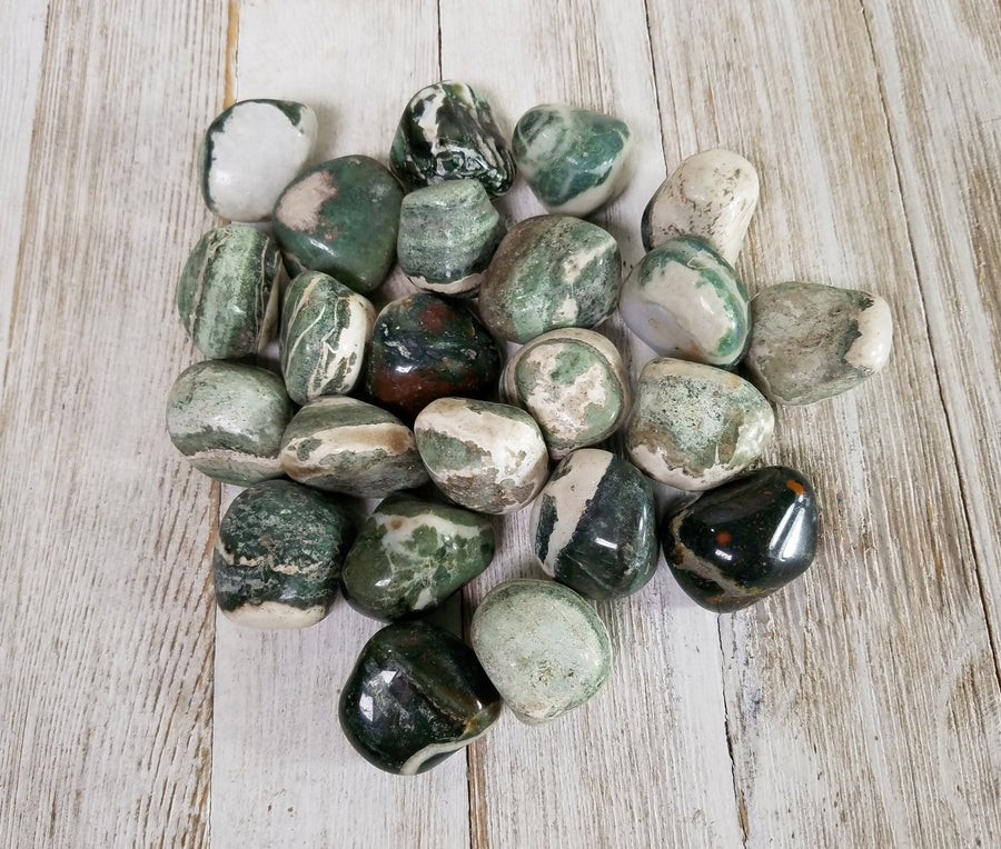 Green Sardonyx Tumbled Polished Gemstone