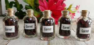 Garnet Gemstone Chips Nuggets Bottle