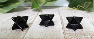 Merkaba Obsidian Gemstone Star - Stone To Clear Negativity Carvings