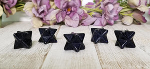 Blue Goldstone Merkaba Gemstone Star