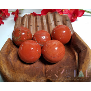 Red Jasper Gemstone Orb - Stone For The Lifeblood Of Earthen Energy Spheres & Orbs
