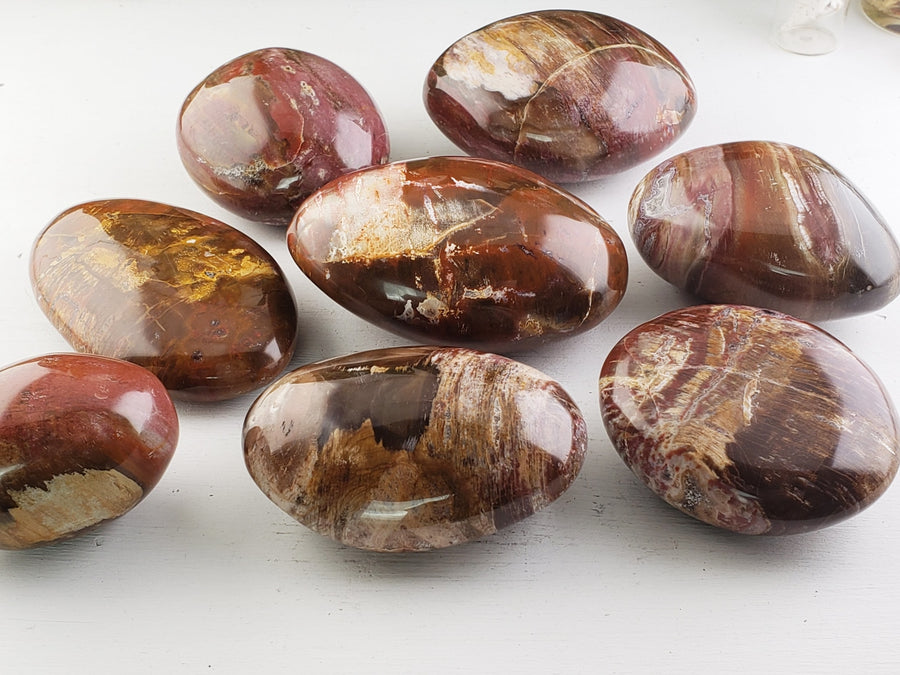 Red Ocean Jasper Palm Stone Gemstone Carvings