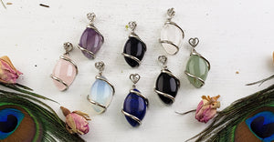 Tear Drop Gemstone Jewelry Pendant - 8 Stone Choices