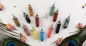Gemstone Point Jewelry Pendant - 14 Stone Choices
