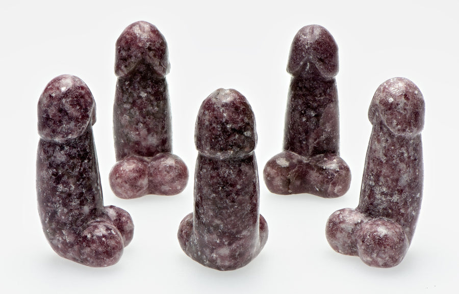 Lepidolite Polished Phallus - Medium