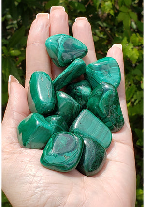 Malachite Polished Tumbled Gemstone