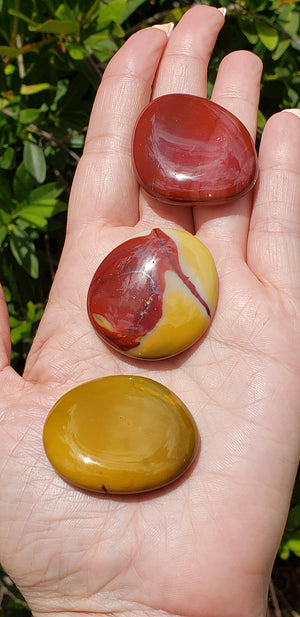 Mookaite Meditation Palm Stone