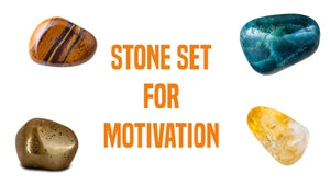 Motivation Gemstone Pocket Stone Set