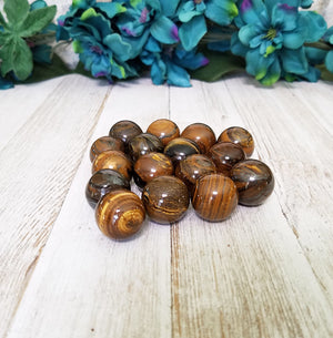 Tiger Eye Gemstone Sphere Orb Marble