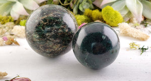 Emerald in Fuchsite Polished Gemstone Sphere Orb