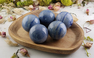 Blue Quartz 40Mm Sphere Orb Gemstone Spheres & Orbs