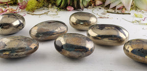 Pyrite Gemstone Meditation Palm Stone