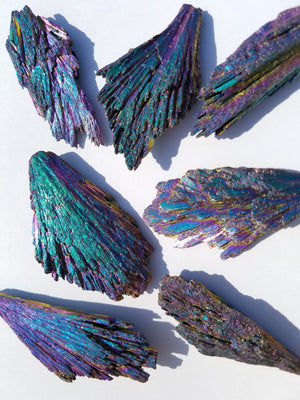 Rainbow Peacock Titanium Kyanite Blades Natural Stones