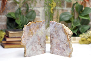 Pink Amethyst Natural Polished Bookends