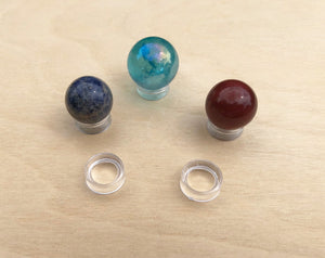 Plastic Orb Sphere Marble Stand