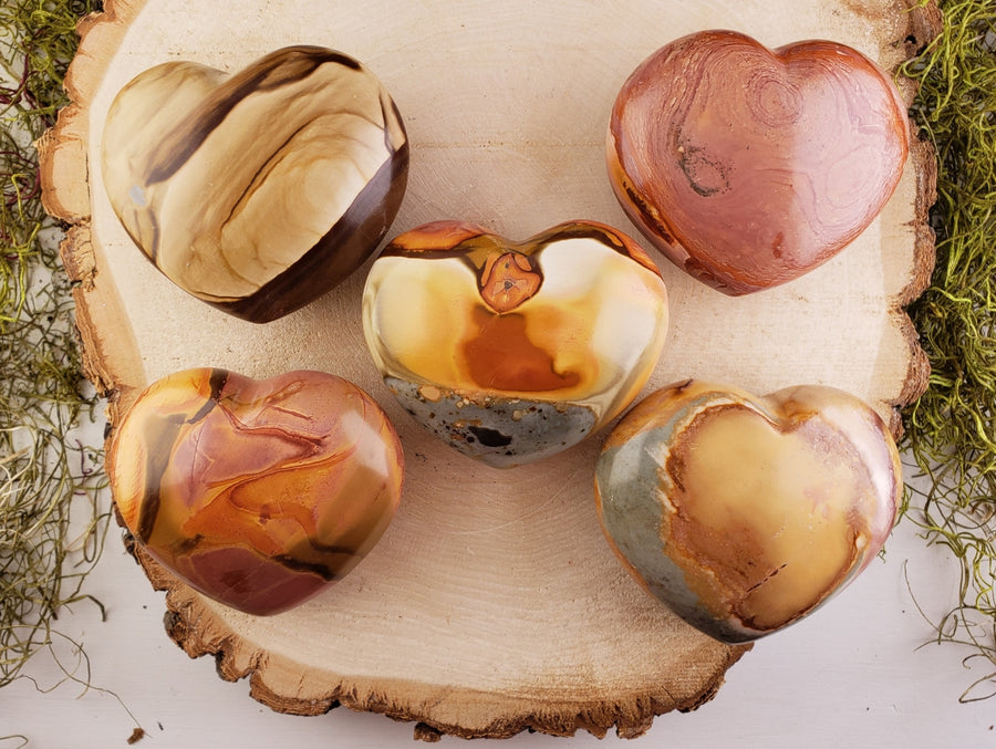 Polychrome Jasper Polished Heart - Large Gemstone Carvings