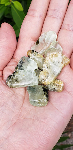 Prehnite with Epidote Natural Gemstone by the Bag