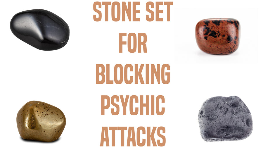 Blocking Psychic Attacks Gemstone Pocket Stone Set