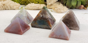 Fancy Jasper Gemstone Pyramid