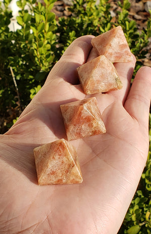 Sunstone Gemstone Pyramid - Mini Size