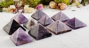 Cacoxenite Super Seven Melody Gemstone Pyramid - Mini Natural Stones