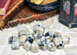 Rainbow Moonstone Gemstone Runes