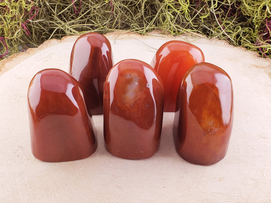 Red Agate Natural Gemstone Polished Tower Carvings