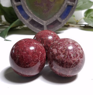 Red Wine Jasper Gemstone Sphere Orb Marble