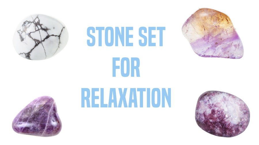 Relaxation, Reduce Stress & Anxiety Gemstone Pocket Stone Set