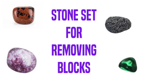Blockage Removal Gemstone Pocket Stone Set