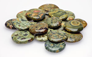 Rhyolite Meditation Palm Gemstone Polished