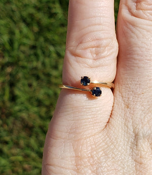 10k Sapphire Gemstone Yellow Gold Ring