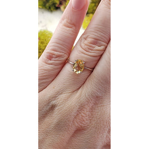 Citrine Gemstone Sterling Silver Ring - Tahire