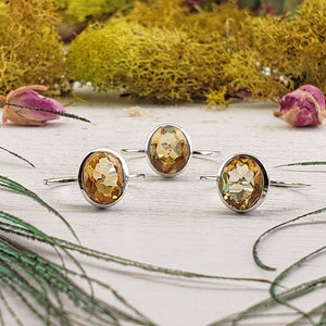 Citrine Gemstone Sterling Silver Ring - Charleigh