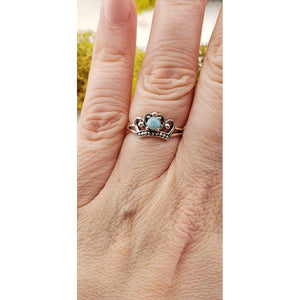 Larimar Gemstone Sterling Silver Ring - Regina