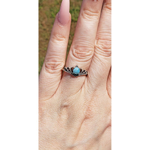 Larimar Gemstone Sterling Silver Ring - Gloria