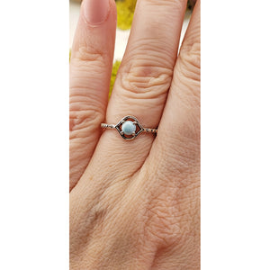 Larimar Gemstone Sterling Silver Ring - Martina