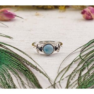 Larimar Gemstone Sterling Silver Ring - Laia