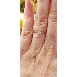 Rainbow Moonstone Gemstone Sterling Silver Ring - Selene