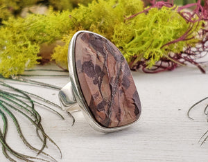 Nguni Jasper Gemstone Sterling Silver Ring