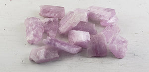 A-Grade Kunzite Rough Polished Raw Natural Gemstone - Extra Flashy & Gemstones