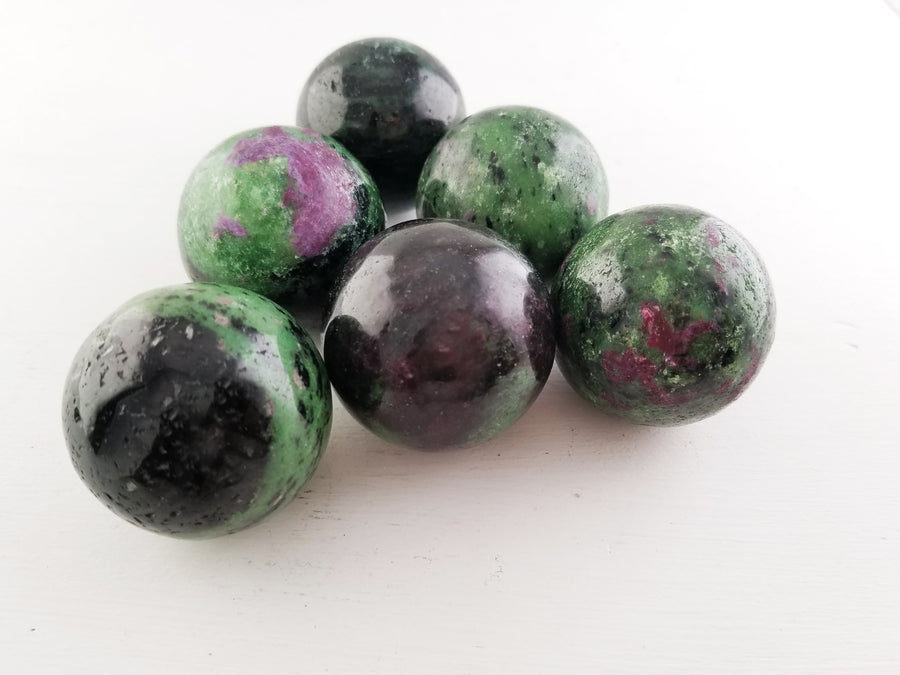 Ruby Zoisite 40Mm Gemstone Sphere Orb Marble Spheres & Orbs