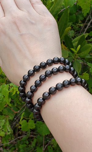 Shungite Polished Gemstone Bracelet
