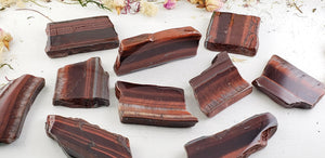 Red Tiger Eye Gemstone Slab Carvings