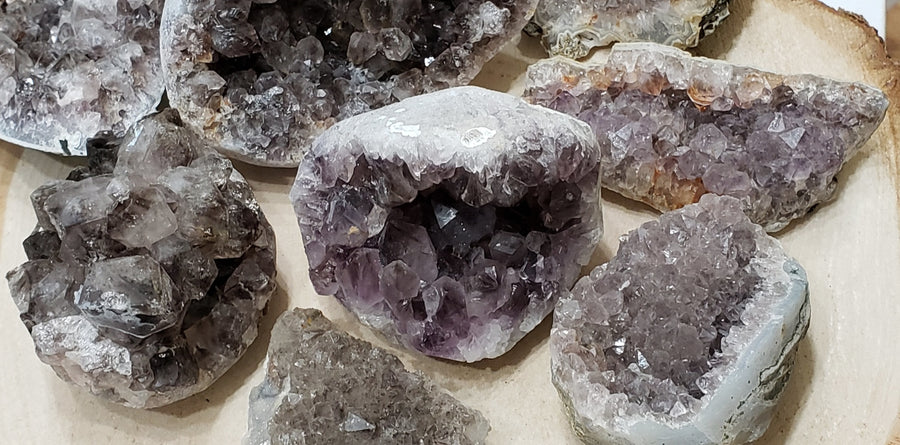 Smoky Amethyst Clusters Crystal