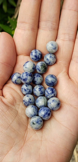 Sodalite Natural Gemstone 10mm Sphere Orb Marble