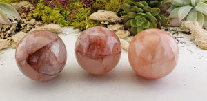 Fire Quartz 45mm-65mm Polished Sphere Orb Marble