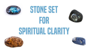 Spiritual Clarity Gemstone Pocket Stone Set