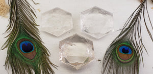 Quartz Crystal Faceted Star Celestial Carving